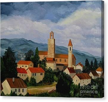 Bell Tower Of Vinci Canvas Print by Julie Brugh Riffey
