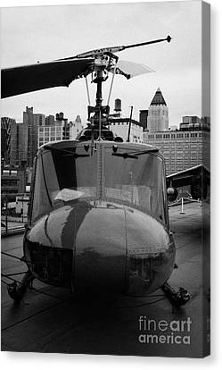 bell uh1 huey helicopter at the Intrepid Sea Air Space Museum Canvas Print by Joe Fox