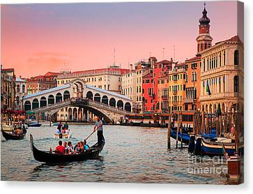 Grand Canal Canvas Print - La Bella Canal Grande by Inge Johnsson