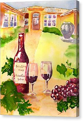 Bella Colina Winery Canvas Print by Sharon Mick