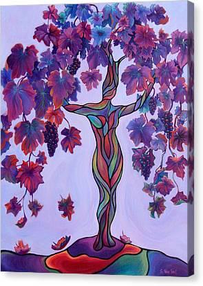 Bella Di Vino Canvas Print by Sandi Whetzel