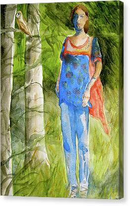 Bella Emerges Canvas Print by Beverley Harper Tinsley