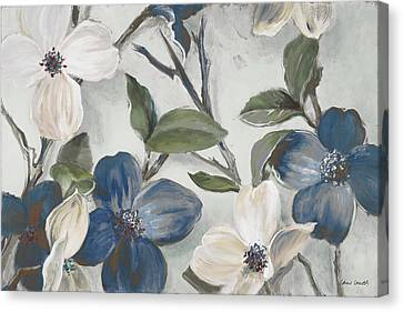 Bella Fiori Blu Canvas Print by Lanie Loreth