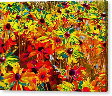 Bella Flora Painting Canvas Print by Will Borden