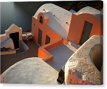 Canvas Print featuring the photograph Bella Santorini Hause by Colette V Hera  Guggenheim
