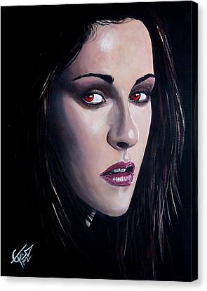 Bella Swan - Kristen Stewart Canvas Print by Tom Carlton