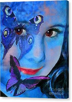 Bellafly In Blue Canvas Print
