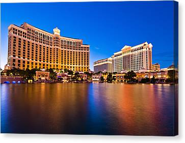 Bellagio And Caesars Canvas Print