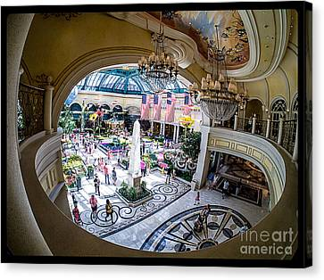 Bellagio Canvas Print - Bellagio Conservatory And Botanical Gardens by Edward Fielding