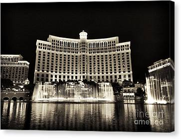 Bellagio Fountain Dance 1 Canvas Print by John Rizzuto