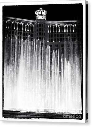 Bellagio Fountains I Canvas Print by John Rizzuto