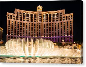 Bellagio Hotel And Casino Fountain  Canvas Print by Clint Buhler