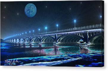 Belle Isle Bridge Canvas Print by Michael Rucker