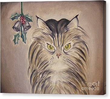 Belle With Silver Bells Canvas Print by Victoria Lakes