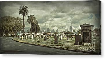 Bellevue Cemetery Crypt - 02 Canvas Print by Gregory Dyer
