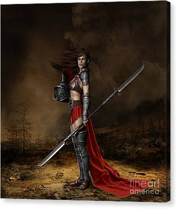 Courage Canvas Print - Bellona Goddess Of War by Shanina Conway