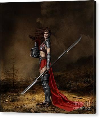 Bellona Goddess Of War Canvas Print by Shanina Conway