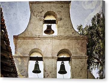Mission California Canvas Print - Bells Of Mission San Diego by Joan Carroll