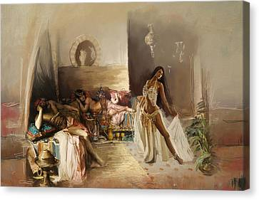Belly Dancer Lounge Canvas Print by Corporate Art Task Force