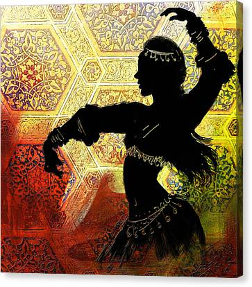 Abstract Belly Dancer 12 Canvas Print by Corporate Art Task Force