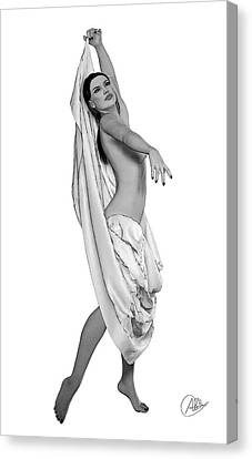 Belly Dancing Canvas Print by Quim Abella
