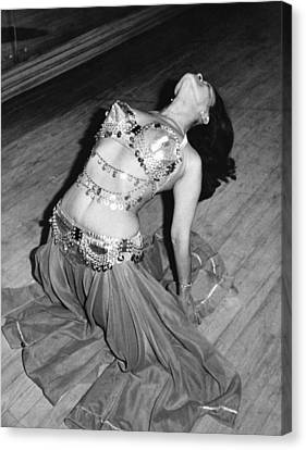 Backward Canvas Print - Belly Dancing School Student by Underwood Archives