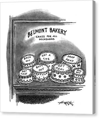 Belmont Bakery Cakes For All Occasions Canvas Print by Henry Martin