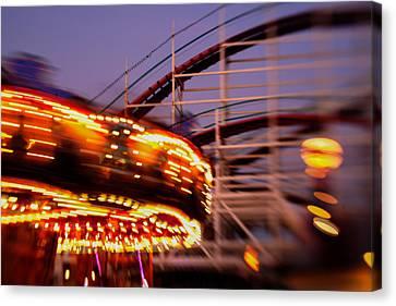 Did I Dream It Belmont Park Rollercoaster Canvas Print