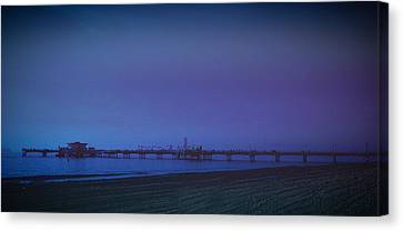Canvas Print featuring the photograph Belmont Pier by Joseph Hollingsworth