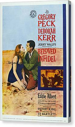 1950s Poster Art Canvas Print - Beloved Infidel, Canadian Poster by Everett