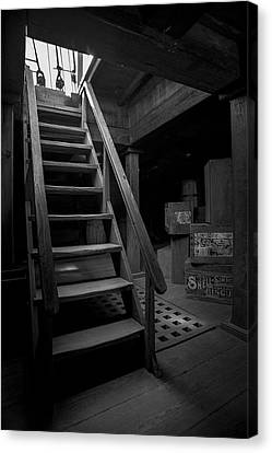 Below Deck - Charles W Morgan Whaling Ship Canvas Print by Gary Heller