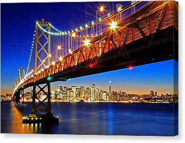 Below The Bay Bridge And San Francisco Skyline Canvas Print