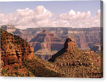 Canvas Print featuring the photograph Below The Rim by Sandy Molinaro