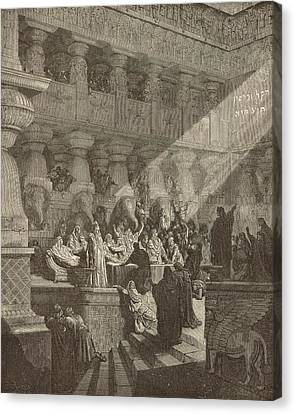 Belshazzar's Feast Canvas Print by Antique Engravings