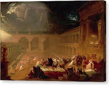 Belshazzars Feast Signed And Dated Canvas Print by Litz Collection