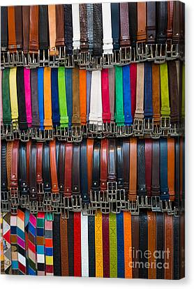 Belts Galore Canvas Print by Inge Johnsson