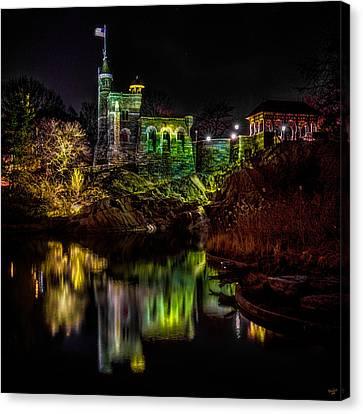 Belvedere Castle At Night Canvas Print