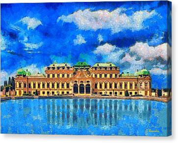 Belvedere Palace Canvas Print by George Rossidis