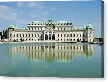 Canvas Print featuring the photograph Belvedere Palace by Jeremy Voisey