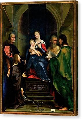 Bembo Giovan Francesco, Madonna Canvas Print by Everett