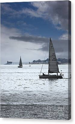 Bembridge Pier From Gosport Canvas Print by Terri Waters