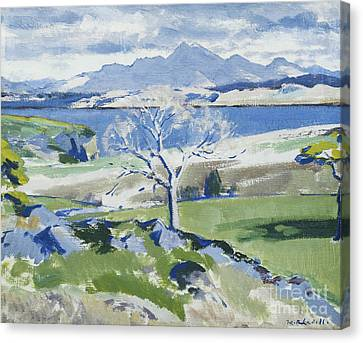 Bare Trees Canvas Print - Ben Cruachan From Achnacraig by Francis Campbell Boileau Cadell