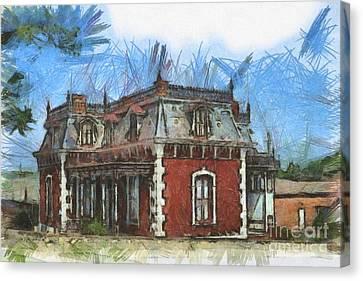 Historic Site Canvas Print - Ben Ferrel Museum  by Liane Wright