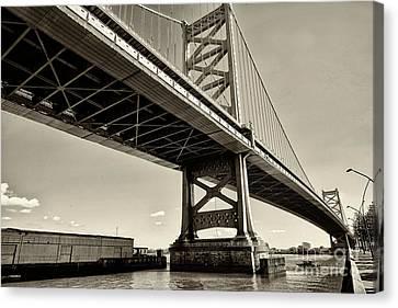 Ben Franklin Bridge 1 Canvas Print by Jack Paolini