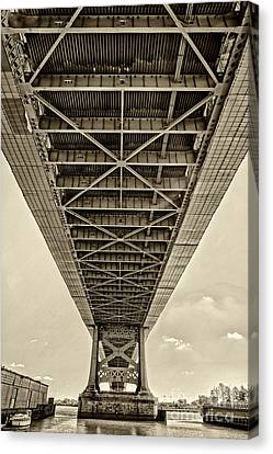 Ben Franklin Bridge 2 Canvas Print by Jack Paolini
