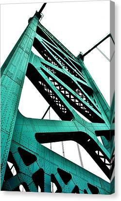 Ben Franklin Bridge Canvas Print by Benjamin Yeager
