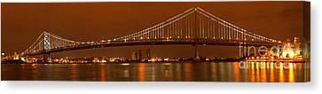 Ben Franklin Bridge Giant Panorama Canvas Print