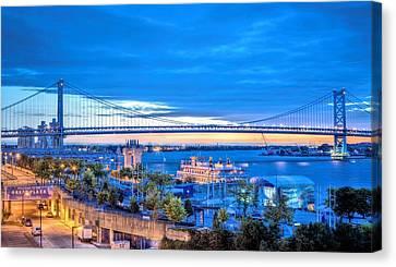 Ben Franklin Bridge Canvas Print by JC Findley