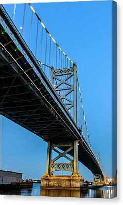 Ben Franklin Bridge Canvas Print by Louis Dallara