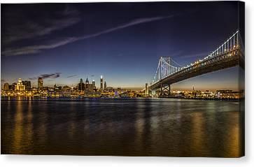 Ben Franklin Bridge Canvas Print by Rob Dietrich
